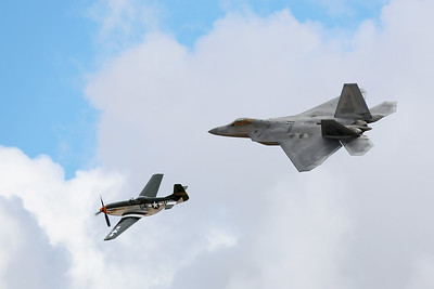 Heritage Flight, P-51 Mustang & F-22 Raptor, Marine Corps Air Station Miramar, California