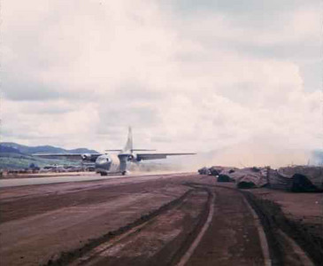 C-123 landing at the new Khe Sanh airstrip 1966