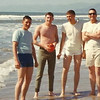 Ventura Beach, CA.<br /> Bill Felker holding the football (looks a little like Tim Tebow)<br /> Anyone recognize the other three?