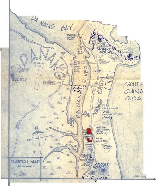 DaNang Area Military Map-1966