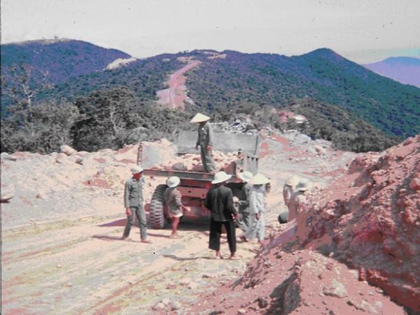 Monkey Mtn. Road Project Vietnamese Workers-1966