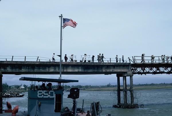 Dong Ha Bridge From LST Ramp-1967