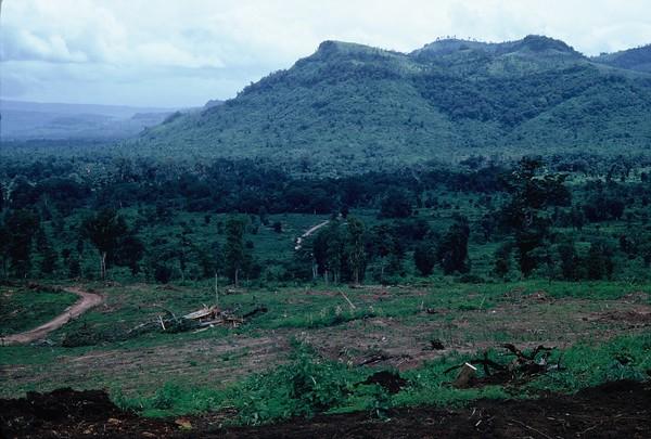 Lang Vei Looking Toward Laos-Mountain NVA Caves 1967