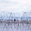 Concertina Wire Protects III MAF Facilities-China Beach, Da Nang East 1966