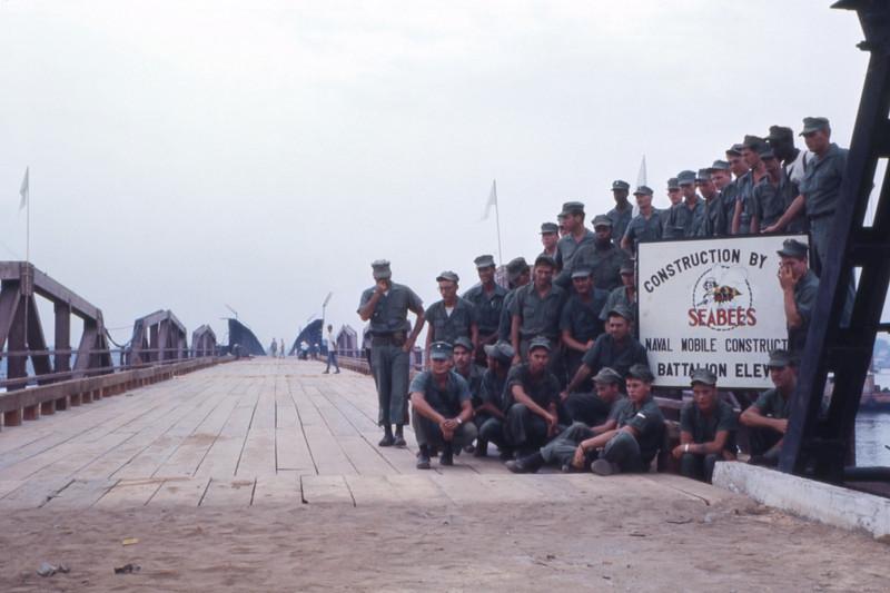 Damaged Bridge Repair Complete-Da nang 1966