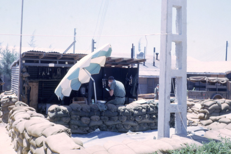 Early Morning Outdoor Shave-Camp Adenir, 1966