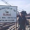 Ens. Geibel at MCB-11 Construction Site-Da Nang East 1966