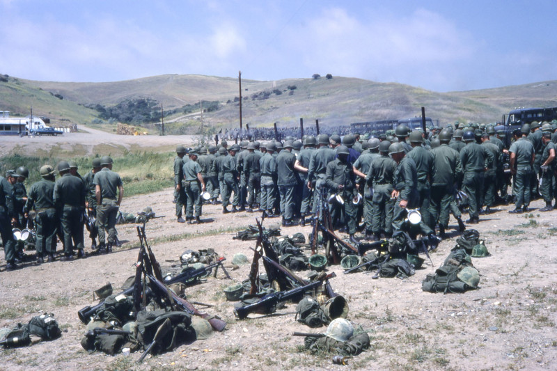 MCB-11 Mounts out for FEX, USMC Camp Pendleton-1968