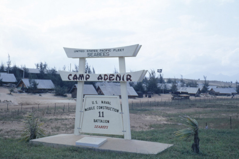 MCB-11 Entrance Sign-Camp Adenir, Da Nang East 1966