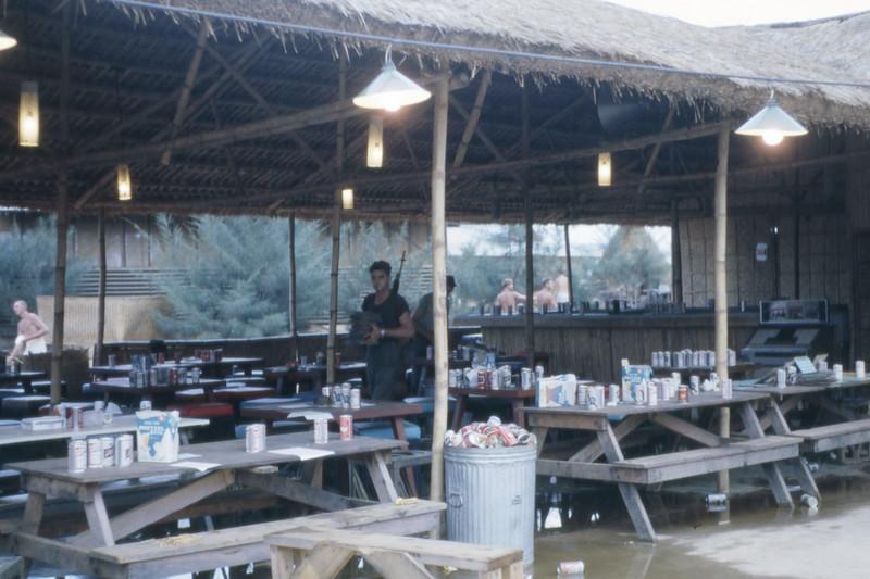 EM Club Grass Shack After Mortar Attack-Camp Adenir 1966