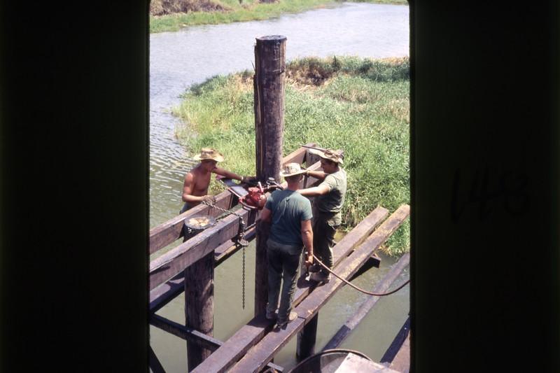 MCB-11 Bridge Repair Route 1-South of Quang Tri 1968