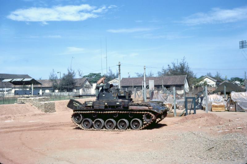 USMC Tank Protects MCB-11 Camp-Quang Tri 1968