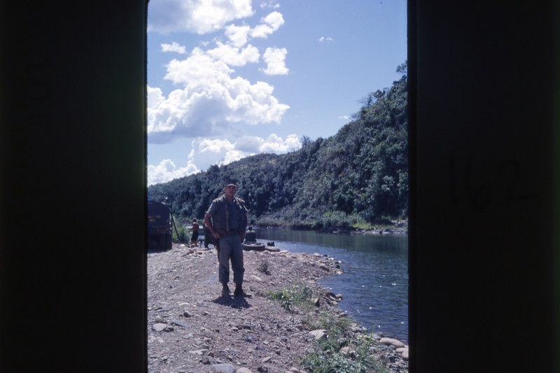 Ltjg. Bruce Geibel Surveys Fresh Water Site Near Dong Ha 1968