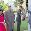 """Photo- Courtesy Ronald Reagan Library...Photographer-Arthur Van Court <br /> <br /> """"On 04 December 1967 at ceremonies conducted aboard CBC Port Hueneme, Senator V.L. Sturgeon, Aide to the Govenor of California, accepted custody of a California State flag that had been flown over the Camp Barnes berthing areas at Dong Ha during the Battalion's recent deployment."""" <br /> <br /> """"On 13 December 1967 a ceremony was held in front of the California State<br /> House with the Commanding Officer of Naval Mobile Construction Battalion<br /> 11 and then Governor Reagan in which a State of California Flag which<br /> had flown over NMCB-11's camp at Camp Barnes, Dong Ha, Vietnam, was<br /> raised and flew for two days over the State House. It then was placed on<br /> display in the rotonda of the State Capital. Governor Reagan was made an<br /> honorary Seabee following the raising of the flag."""" <br /> <br /> <br /> 12/13/1967 Governor Ronald Reagan being presented with California flag flown in Vietnam by military and hoisting flag onto pole in front of State Capitol in Sacramento, California"""
