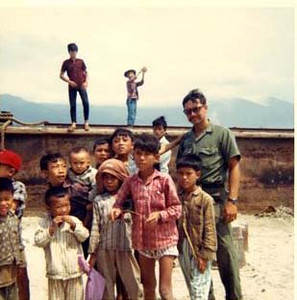 """Rod Leger on a MedCap at a Local Vilage Near Da Nang East 1968-""""Winning Hearts and Minds"""""""
