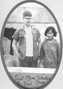 James Mays with a Vietnamese worker, formerly a Viet Cong.