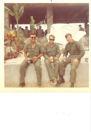 Rod Leger(L) with MCB-62 Pals W.F. Stevens BUCN (C) and A. Peck BUCN (R)