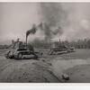 1969 Crawler tractors working on the Fleet Logistics Center, Da Nang oxidation ponds project.  Photo taken Feb69.