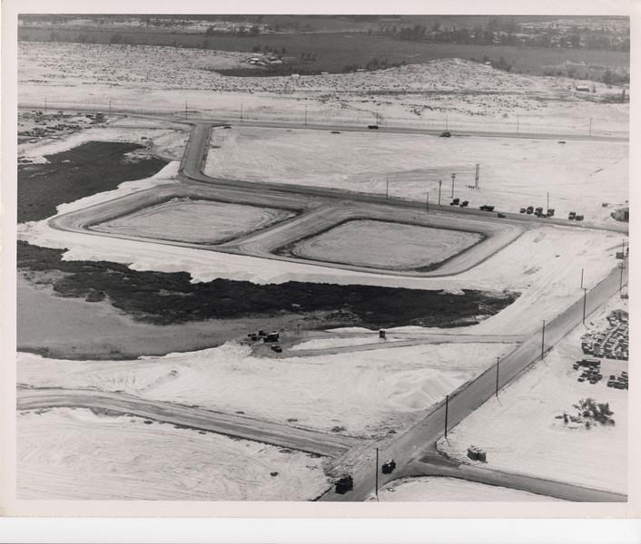 1969 Aerila view of Fleet Logistics Center, Da Nang oxidation ponds project.  Photo taken Feb69.