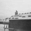 John Knaup on hut roof-Da Nang 1969