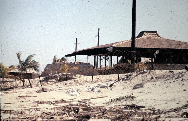 Camp Haskins South-Officers Club..Sunbathers Center Left