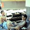 "Danny Tyner, Carl Wassink, Jim Sanborn Relax Outside Their ""Hooch"""