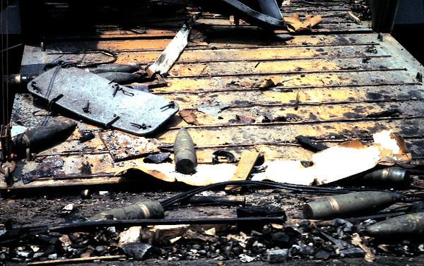 Exposed Ordnance At Destroyed FLSG Ramp