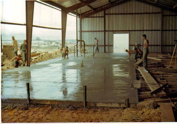 New Concrete Floor for the Bowling Alley