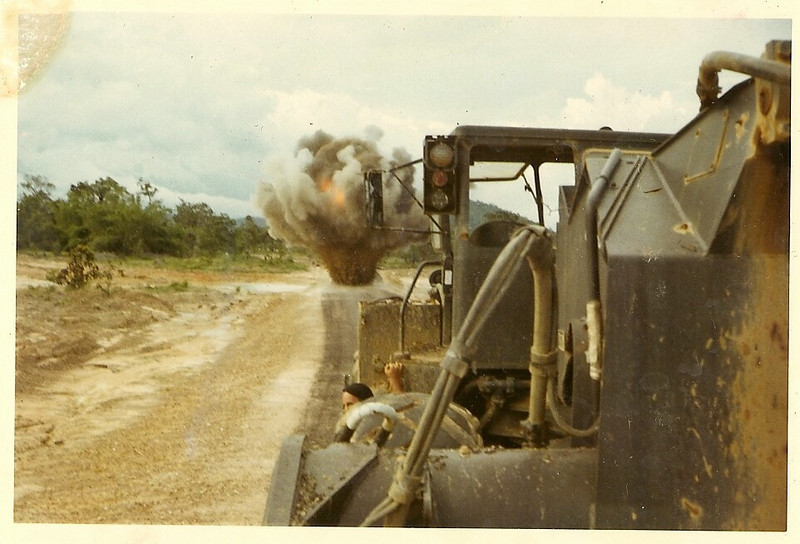 A Mine on the Road-Photo by Bob Stepnowski