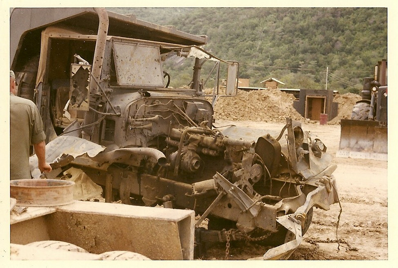 THis Truck Hit a Mine-Photo by Bob Stepnowski