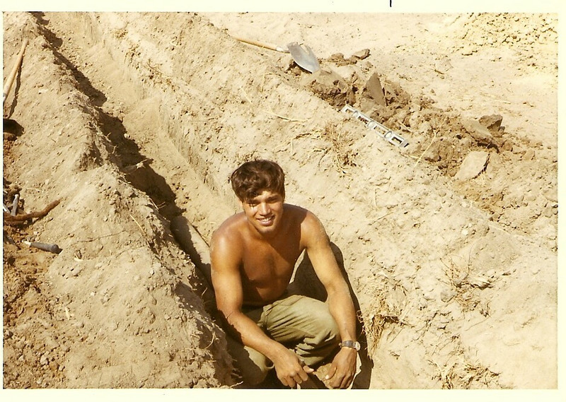 Frank Harper Laying Pipe-The VC Made the Villagers Dig Up all the Pipe After 1975