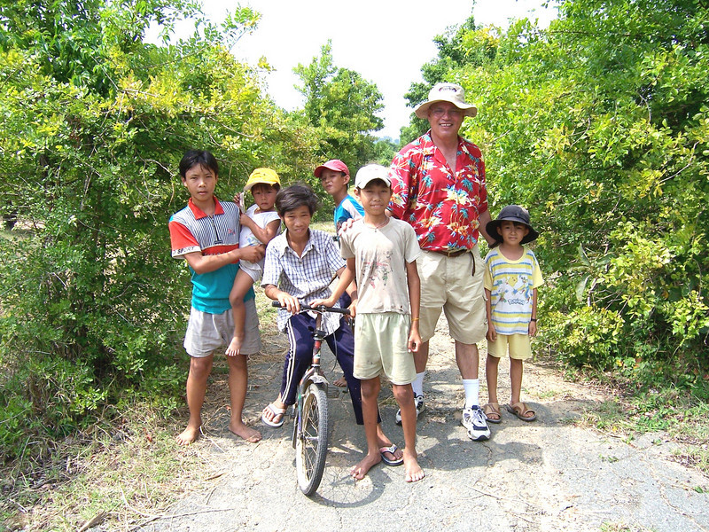 Frank Harper Traveled to Vietnam (2006) and Found Many of the Kids (Now Adults). This Photo Was Taken in Almost the Exact Spot Were the Kids Filling Sangbags was Taken