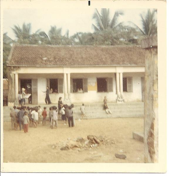 Children Attending School In The Village.