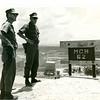 Radm Dillin, Cdr. 3rd NCB, and Cdr. John Paul Jones Inspect the Cam Lo Bridge