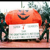 "My friends EA-3 Mike Wagner and PCSN Carroll Broussard built the pumpkin and I did the sign.<br /> <br /> Camp Adeniir, Danang, RVN, '67.<br /> <br /> MCB-7 recreated Charles Schultz's ""Great Pumpkin"" with wire mesh and an old parachute at the main entrance to our camp along Hwy 13.  It was a traffic stopper with military vehicles and personnel stopping to admire and take photos.<br /> The photo looks like it was taken yesterday, and sometimes it seems as if it was yesterday.<br /> <br /> CAN DO.  Ray Cochran"