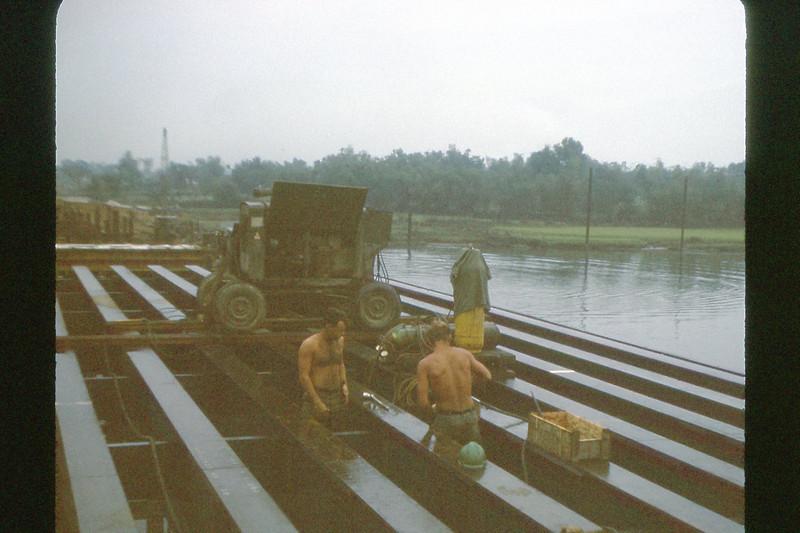 Cau Do Bridge Construction - south of Da Nang - Feb. '70
