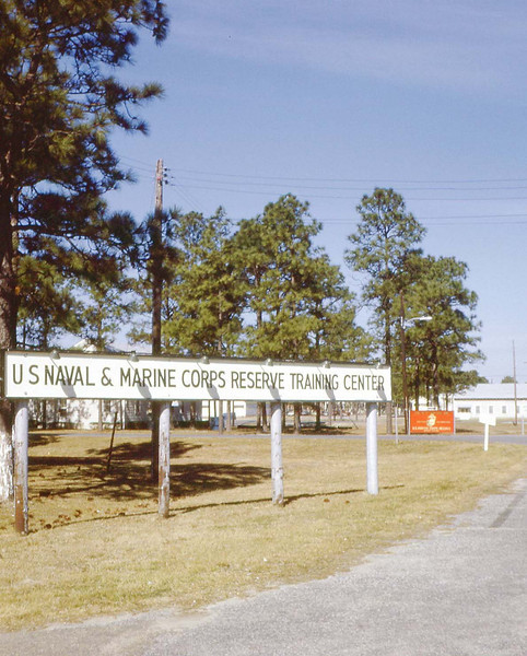 Sign At Main Gate - Gulfport - Jan. '68