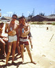 Beach Party - (L-R) Terry Tarentino - Mike McGough - Gary Shorter, middle background - Les Wrinkle