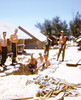Building Our Bunker - July '68 (L-R) Jim Simmons, just in picture - Jones - Mike McGough, with shovel - Dale thompson, in bunker - ? middle person - Tom Schneider, with shovel -  ? person in background - Ron Allen