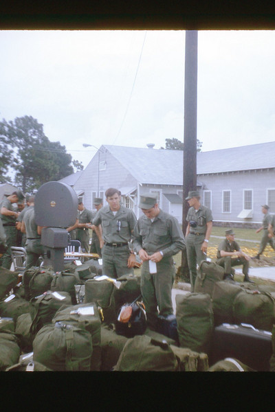 Packing For Quang Tri - Aug. '68 - Tom Schneider With Tag