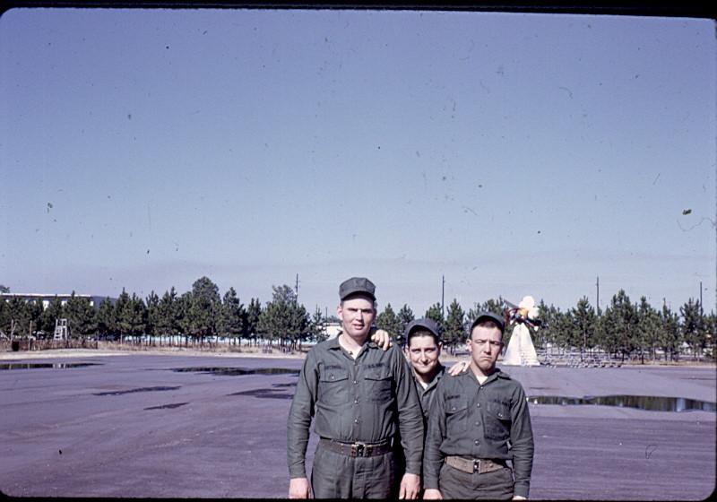 "DPPO Boot Camp-Gulfport 1968<br /> Right-""Spud"" Almond...Center-Nick Babinatts"