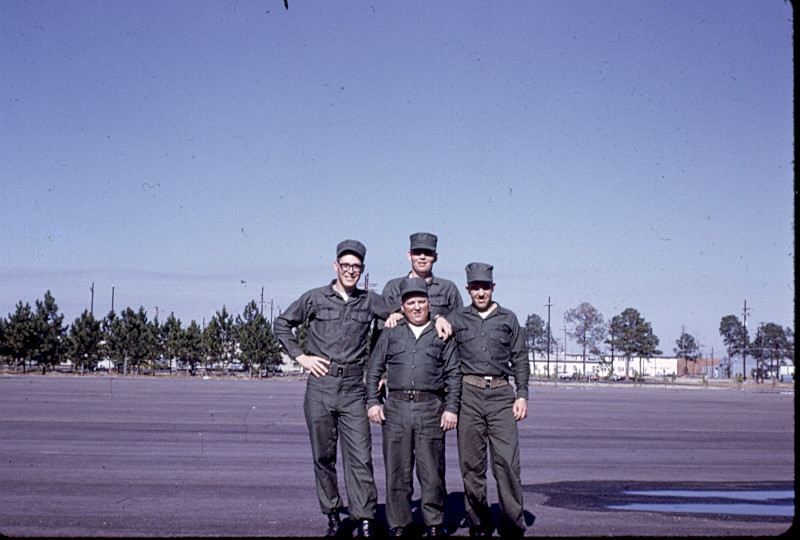 """DPPO Boot Camp-Gulfport 1968<br /> Right-""""Spud"""" Almond...Left-Terry Lukanic"""