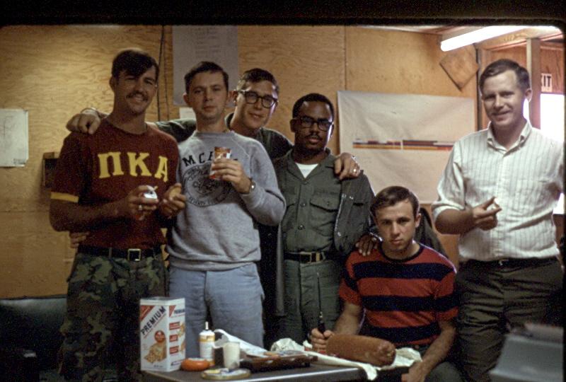 Christmas 1969 L-R Jordan, Robertson, Lukanic, Woods, Petretti, Woodward