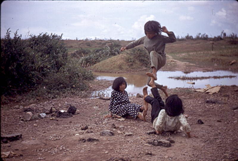 Young Girls Playing A Game