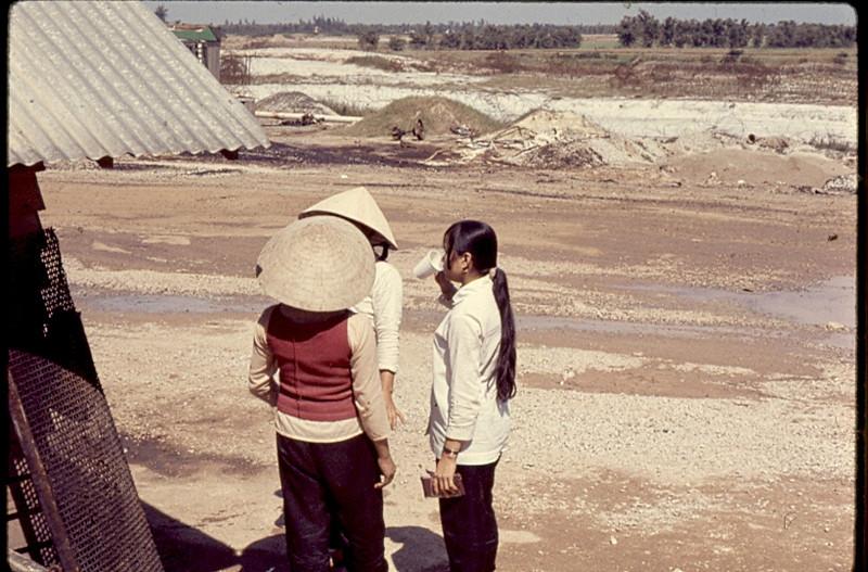 Civilian Women Worked at the Asphalt Plant