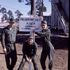 """DPPO Boot Camp-Gulfport 1968<br /> Center-""""Spud"""" Almond...Right-Terry Lukanic<br /> Brand spankin' new """"greens"""" and boots<br /> DPPO's were required to wear the web belt"""