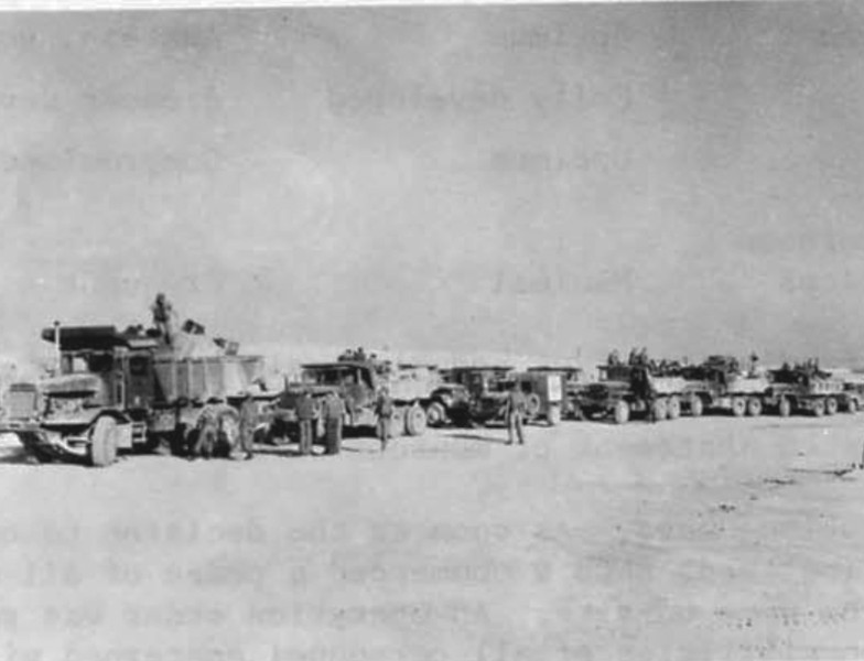 The first NMCB-9 convoy from the staging point at NMCB-121's Camp Campbell, Phu Bai, mounted out on 28 January 1968 to occupy the proposed quarry site in virgin territory near Hill 494.