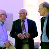 Talking at the open house for the MCC Academic Arts Center is L-R, Jim Cook, James Campbell and MCC President James Mabry. SUN/David H. Brow