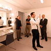 Taking photos of one of the dressing rooms at the new MCC Academic Arts Center is Matthew Hanson Tyngsboro Town Administrator, in back is Rodney Elliott, John LeMay and Paul Cohen. SUN/David H. Brow