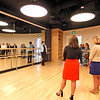Talking about the dance studio in the new MCC Academic Arts Center is Ellen Nichols Dean/Arts/Humanity and World Language on far left for a tour group. SUN/David H. Brow